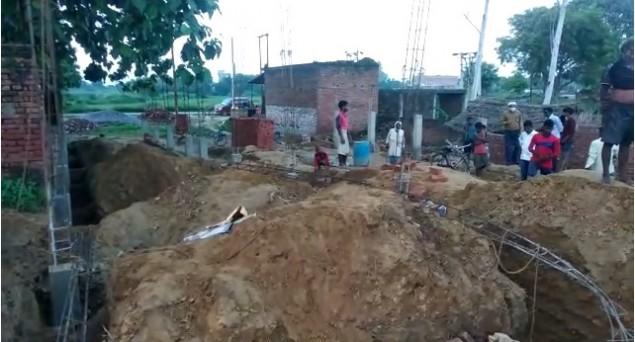 BJP Leader Demolishes The Under-Construction House Of CRPF Jawan Noor Kalim In Sultanpur