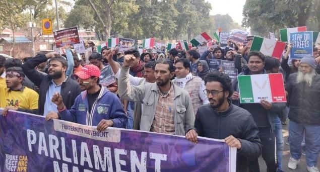 Thousands March Towards Parliament in Delhi against CAA-NRC-NPR