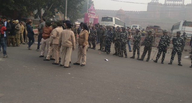 Security Forces Foil Attempt of Anti-CAA Protesters From Reaching Red Fort