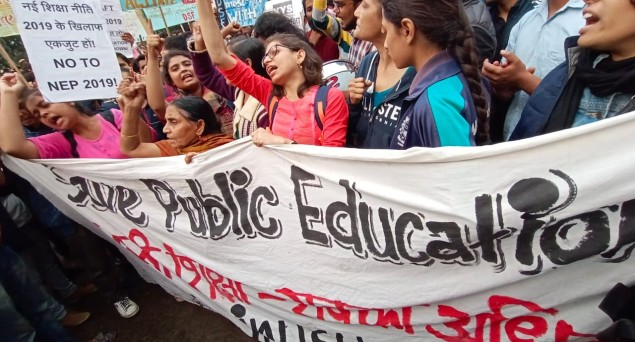 Thousands Of JNU Students Protest Outside HRD Ministry, Demand Complete Withdrawal Of Fee Hike