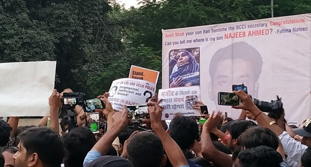 Where Is Najeeb? Massive Protest Held In Delhi On 3rd Anniversary Of His Mysterious Disappearance From JNU
