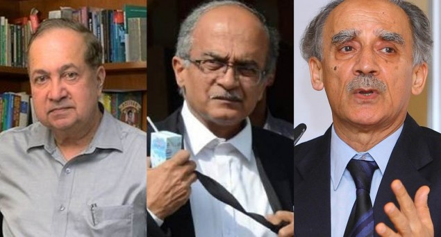 Ram, Bhushan & Shourie Withdraw Contempt Plea