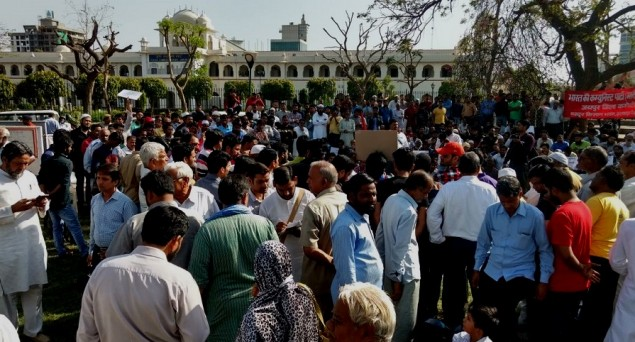 Hundreds protest in Jaipur against attack at hotel on beef suspicion