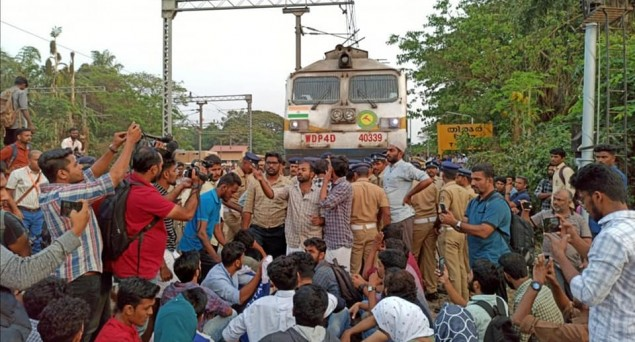 Kerala:  Blocked Train In Protest Against Delhi Violence, 39 Fraternity Activists Sent to Jail