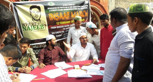 From Jamia Nagar to Jamshedpur, nationwide signature campaign underway for Najeeb