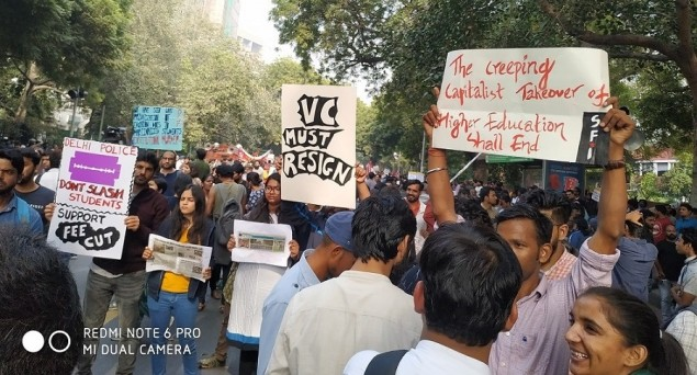 JNU Fee Hike: JNUSU Adamant on Restoration of Old Fee Structure In Toto, To Form a Human Chain on Wednesday In National Capital
