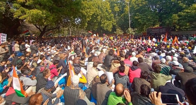 Massive Protest against CAA Held in Delhi ahead of Parliament Session