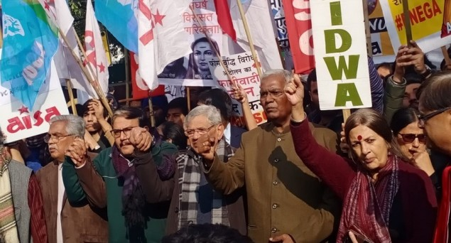 Thousands March in Delhi Demanding Removal of JNU Vice Chancellor